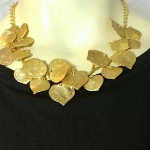 KENNETH JAY LANE Gold Plated Hummered Necklace